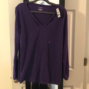Lane Bryant Tee with slits at the shoulder